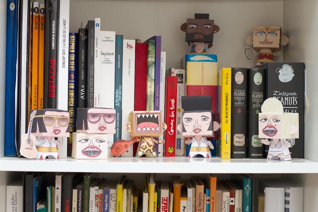 es paper toys et mes bande dessinées - CocoFlower workplace - crédits photos : Josephine Docena - www.parisianlocal.com