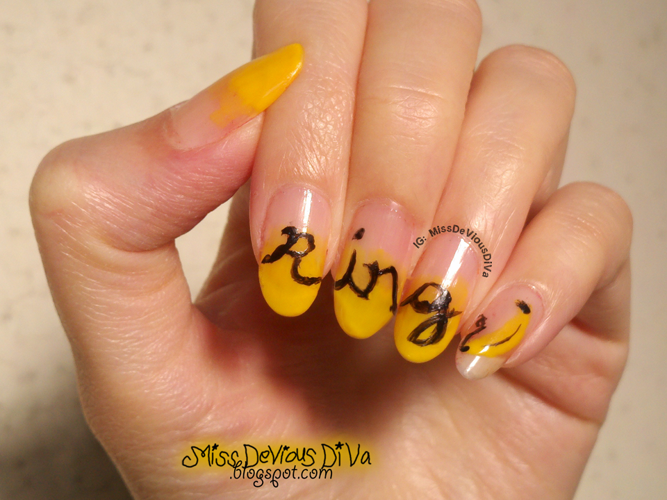 #31DC2014 - Day 3: Yellow Nails