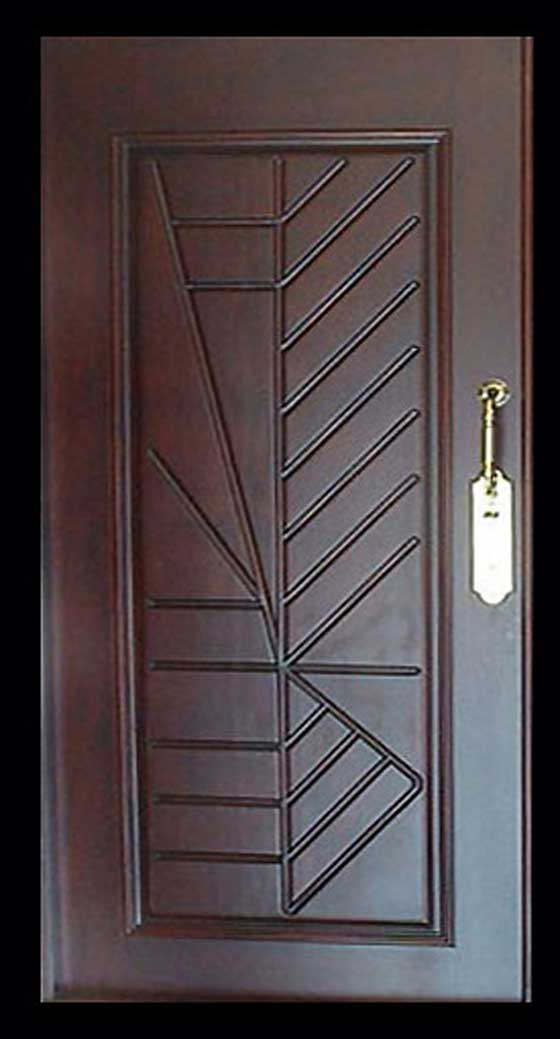 The shrinkage on the wooden door home decoration ideas for Wooden single door design for home