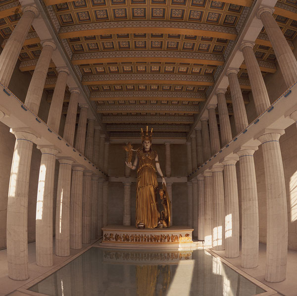 The Nashville Parthenon interior