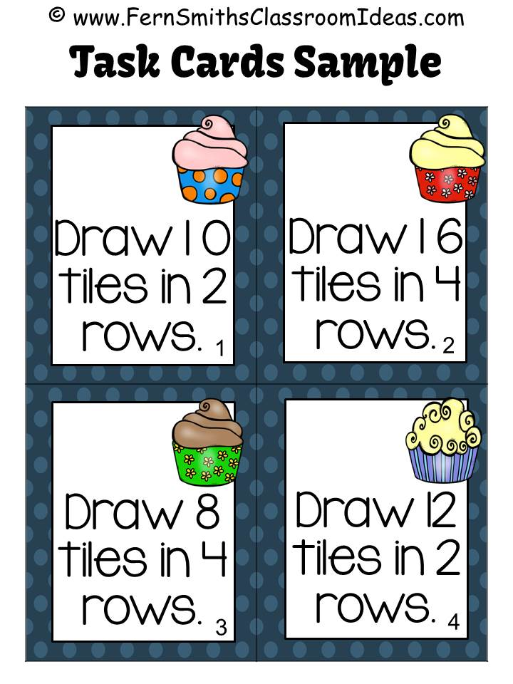 Fern's Freebie Friday ~ FREE Multiply with 2 and 4 Sample Task Cards for 3.OA.A.1
