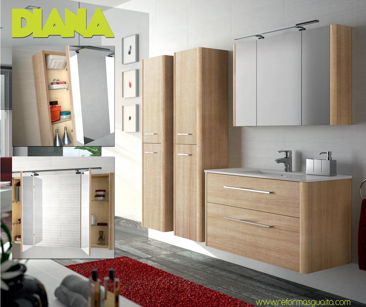 Mueble diana sin esquinas redondeado reformas guaita for Mueble auxiliar lavabo