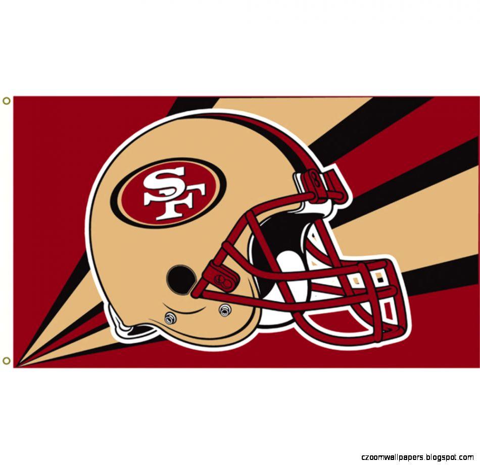 San Francisco 49ers 3 ft x 5 ft Flag   49ers Helmet