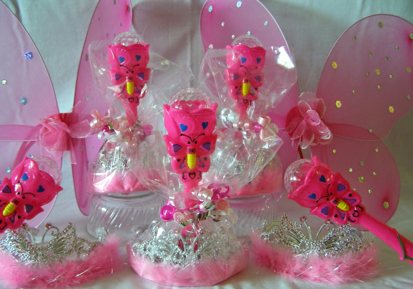 The Princess Birthday Blog: New Butterfly Wand and Tiara Favor