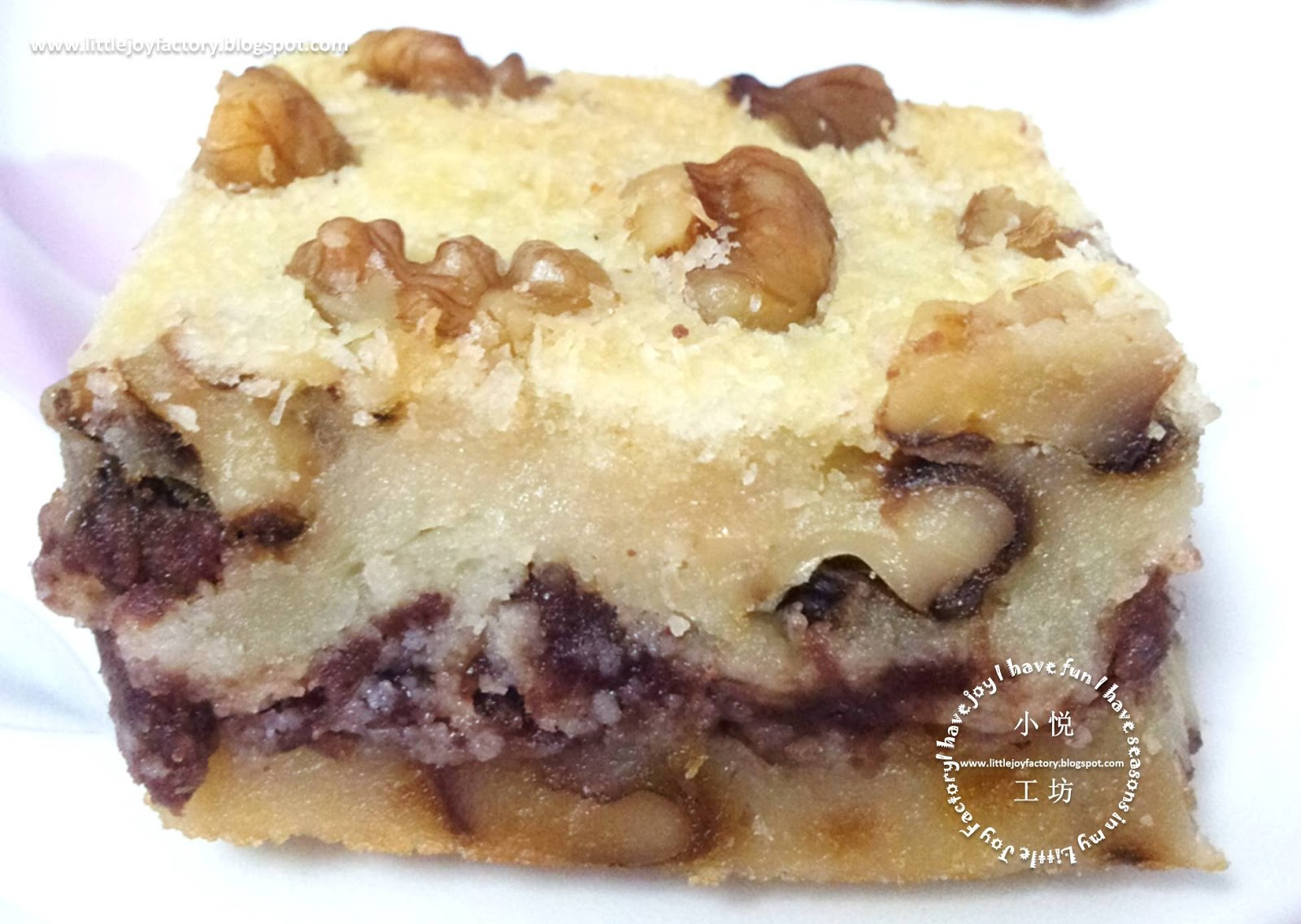 ... : Baked Rice Cake with Red Dates and Walnuts 烤核桃红枣年糕