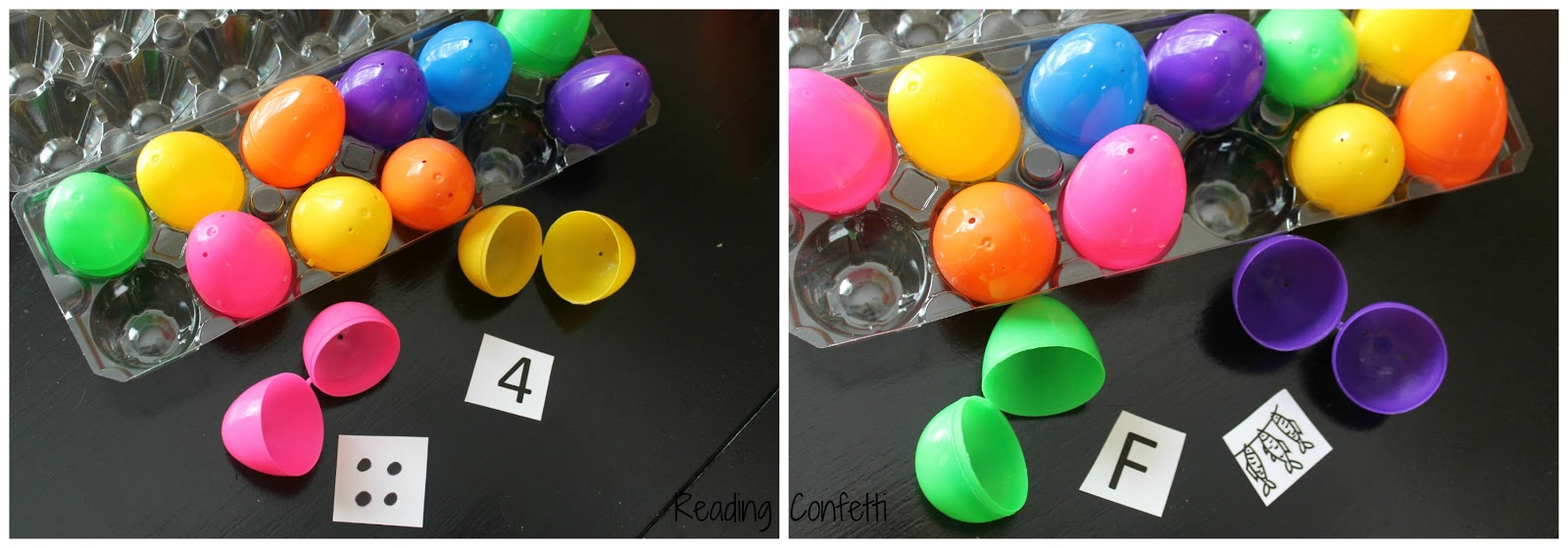 10 ways to learn numbers and letters with plastic easter eggs