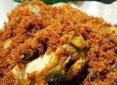 Resep masakan indonesia ayam goreng kremes spesial ala nyonya suharti renyah (crispy) sedap, lezat
