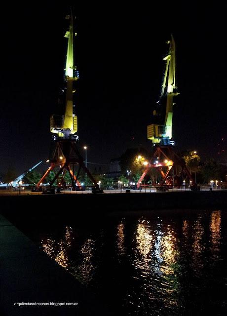 Sector de Puerto Madero en la Ciudad de Buenos Aires