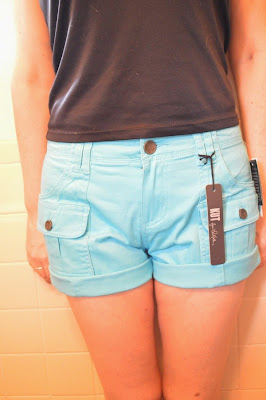 Stitch Fix Kut from the Kloth Elliot Cargo Pocket Shorts Teal