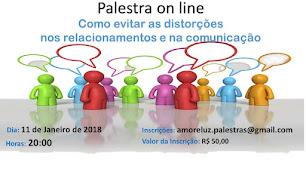 PRÓXIMA PALESTRA ON LINE - 11 DE JANEIRO DE 2018