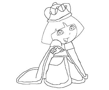 #7 Dora Coloring Page