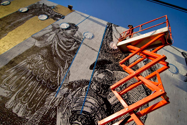 Street Art By American Urban artists Cyrcle And French singer Woodkid in Los Angeles, USA. 5