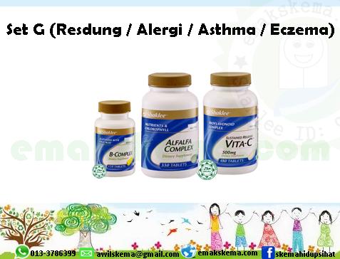 Set G (Resdung / Alergi / Asthma / Eczema)