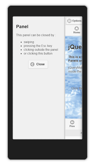 jQueryMobile Panels For Android and BlackBerry   1