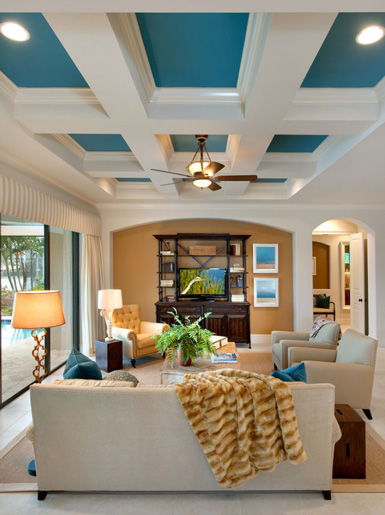 Belle maison the fifth wall for Ceiling mural ideas
