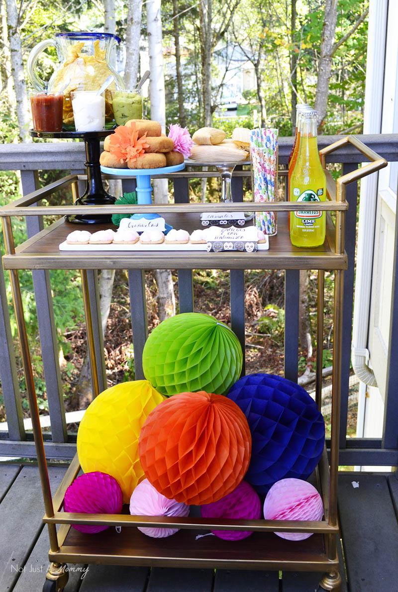 Día De Los Muertos Crafternoon Party bar cart