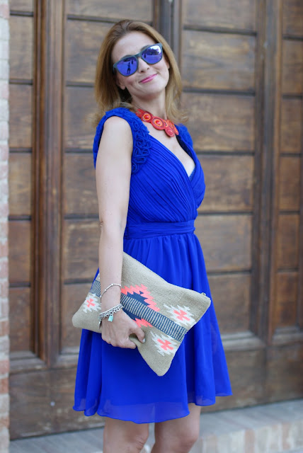 summer dress, cobalt blue chiffon dress, Little Mistress dress, royal blue dress, Fashion and Cookies