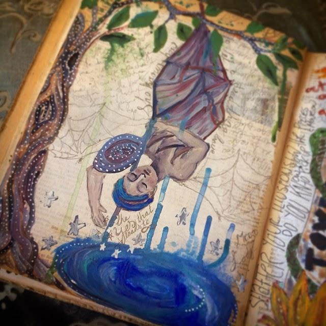 Galia Alena, tarot journal, mixed media