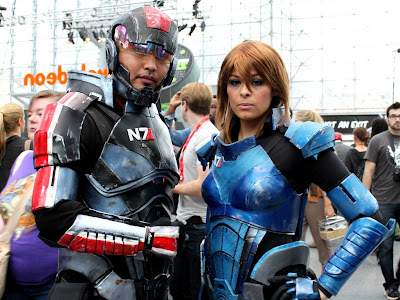 One of the most detailed, well thought-out, and likely super expensive Mass Effect cosplays EVER!