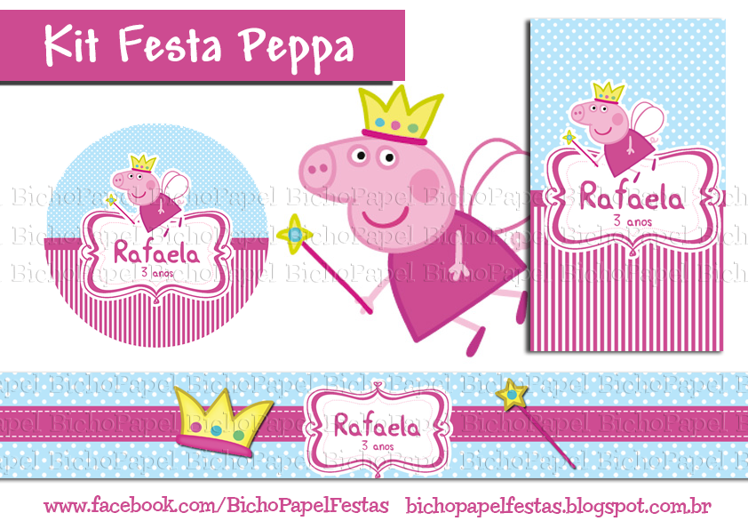 kit festa peppa fada