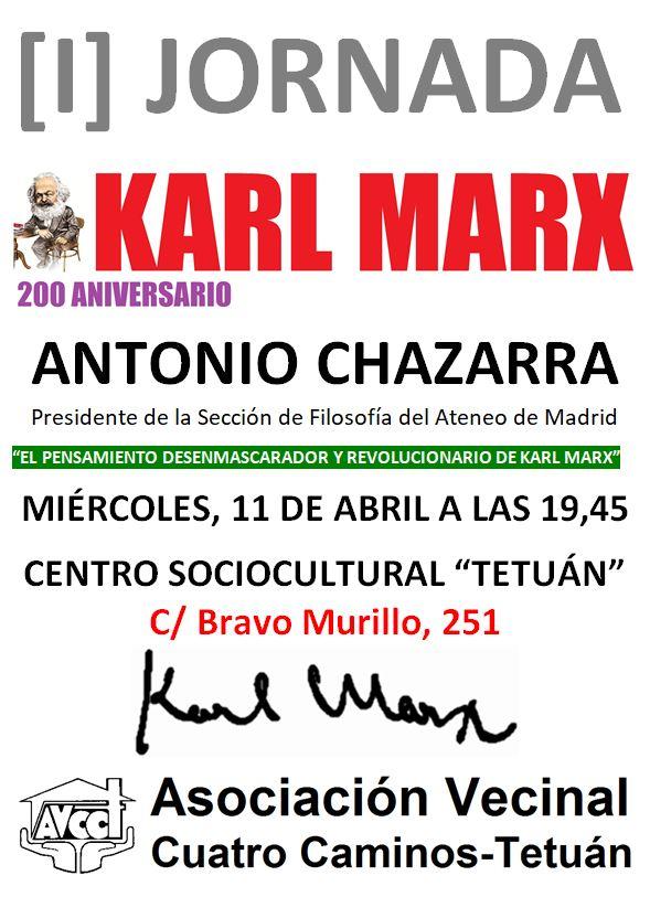 11 de abril Ciclo Karl Marx en tetuán