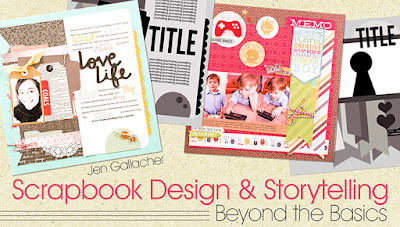 Scrapbooking Class with videos and #scrapbooking sketches created by Jen Gallacher. Click here for more information: www.craftsy.com/ext/JenGallacher_4997_F