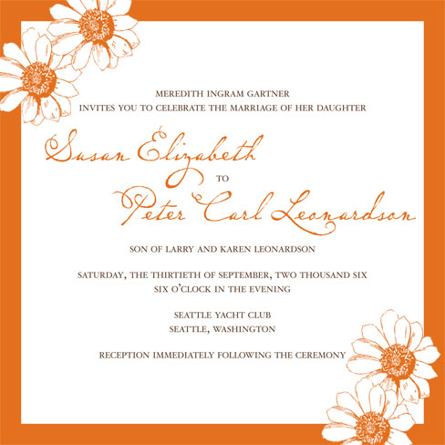 Indian Wedding Reception Invitation