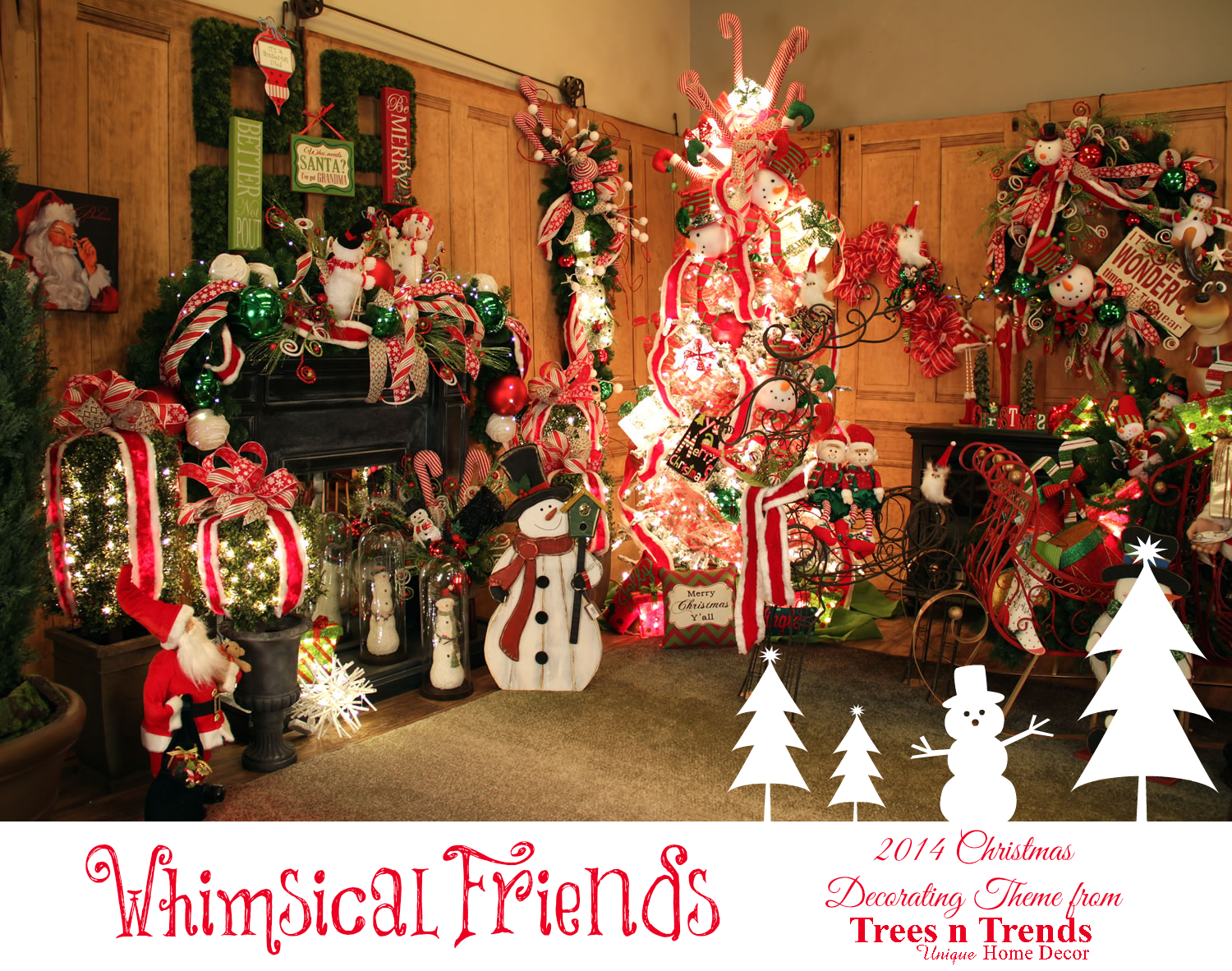 Christmas tree 2014 decorating trends -  Whimsical Friends For So Many Families Christmas Is For The Children Whimsical Friends Is A Christmas Decorating Theme Inspired By The Youngest Members