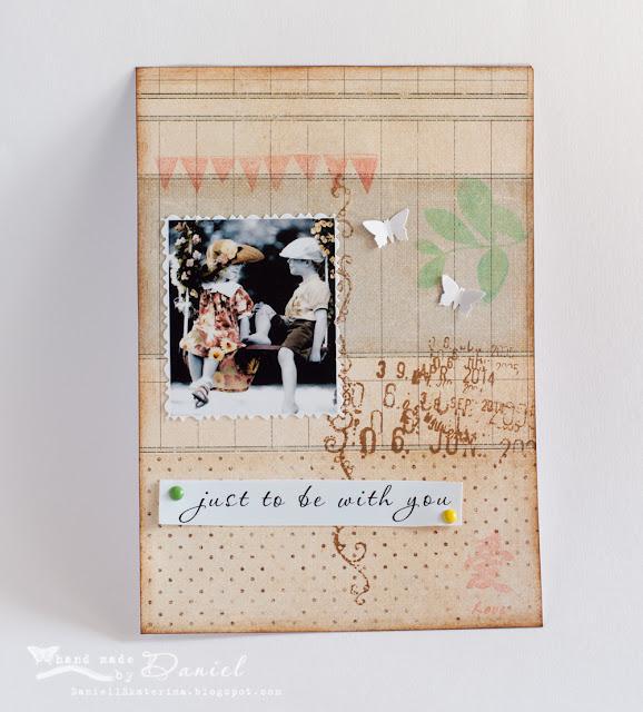 скрапбукинг открытка любовь