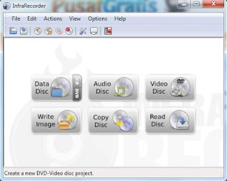 Burning CD dan DVD dengan InfraRecorder