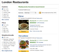 Trip Advisor screen shot