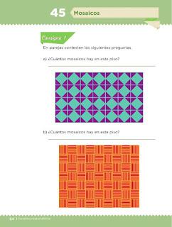Apoyo Primaria Desafíos Matemáticos 2do Grado Bloque 2 Lección 45 Mosaicos