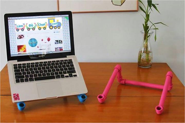 Đế Laptop Handmade từ ống nước