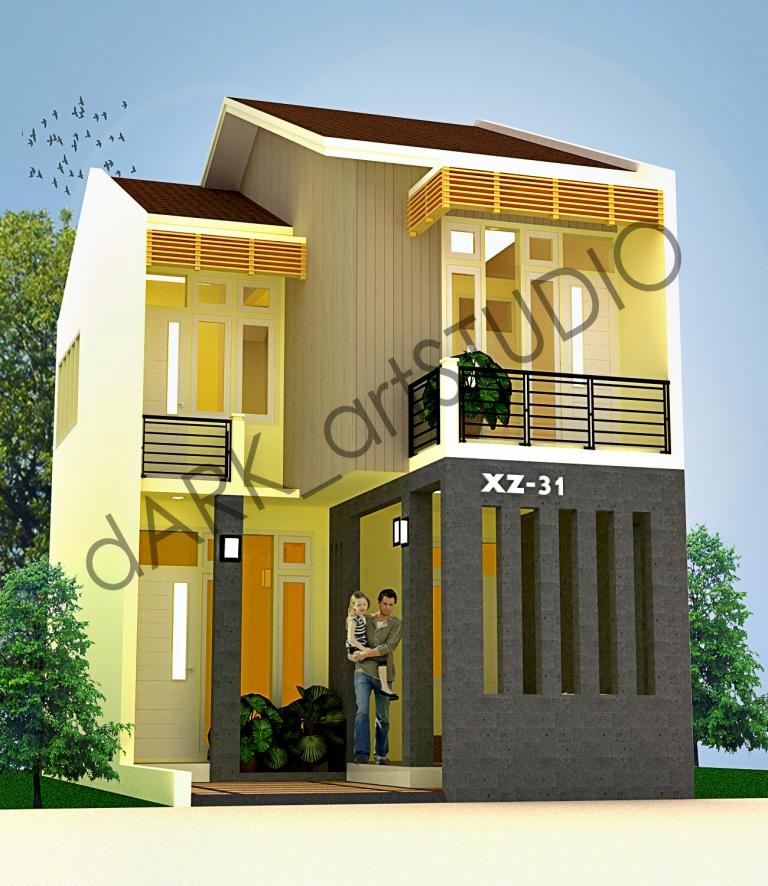 contoh desain denah rumah minimalis 2 lantai