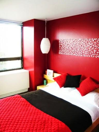 Habitaciones en color rojo dormitorios colores y estilos for Diseno de habitacion online