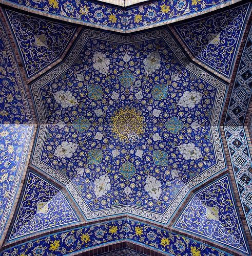 Persia techos pintados y arquitectura iraní