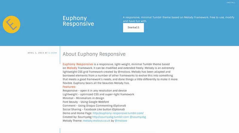 Euphony Tumblr Theme