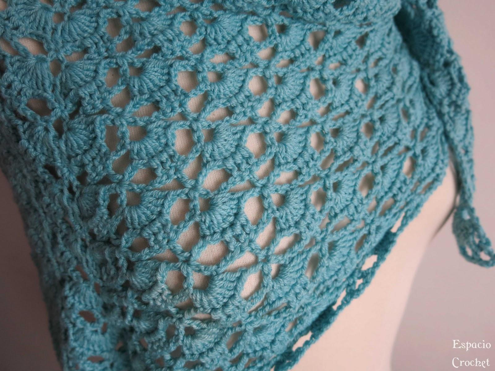 Chal azul | Espacio Crochet