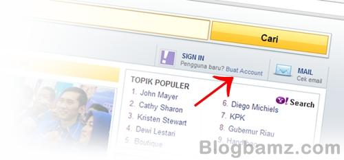 Cara Membuat Email Baru di Yahoo