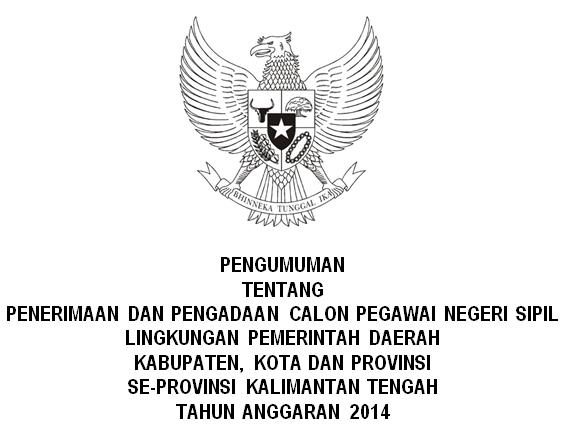 Penerimaan CPNS Se Kalimantan Tengah