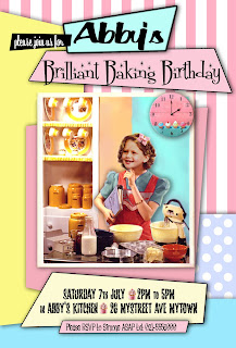 Baking Birthday Party Personalized Invitation with photo