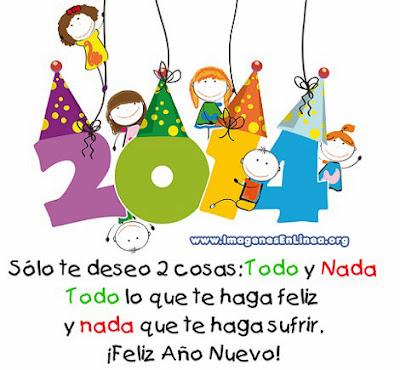 Feliz año nuevo 2014, tarjetas bonitas con frases para compartir