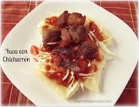 yuca con carne frita