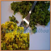 Refogado de casca de abóbora madura. Uma mistura ecológica e nutritiva