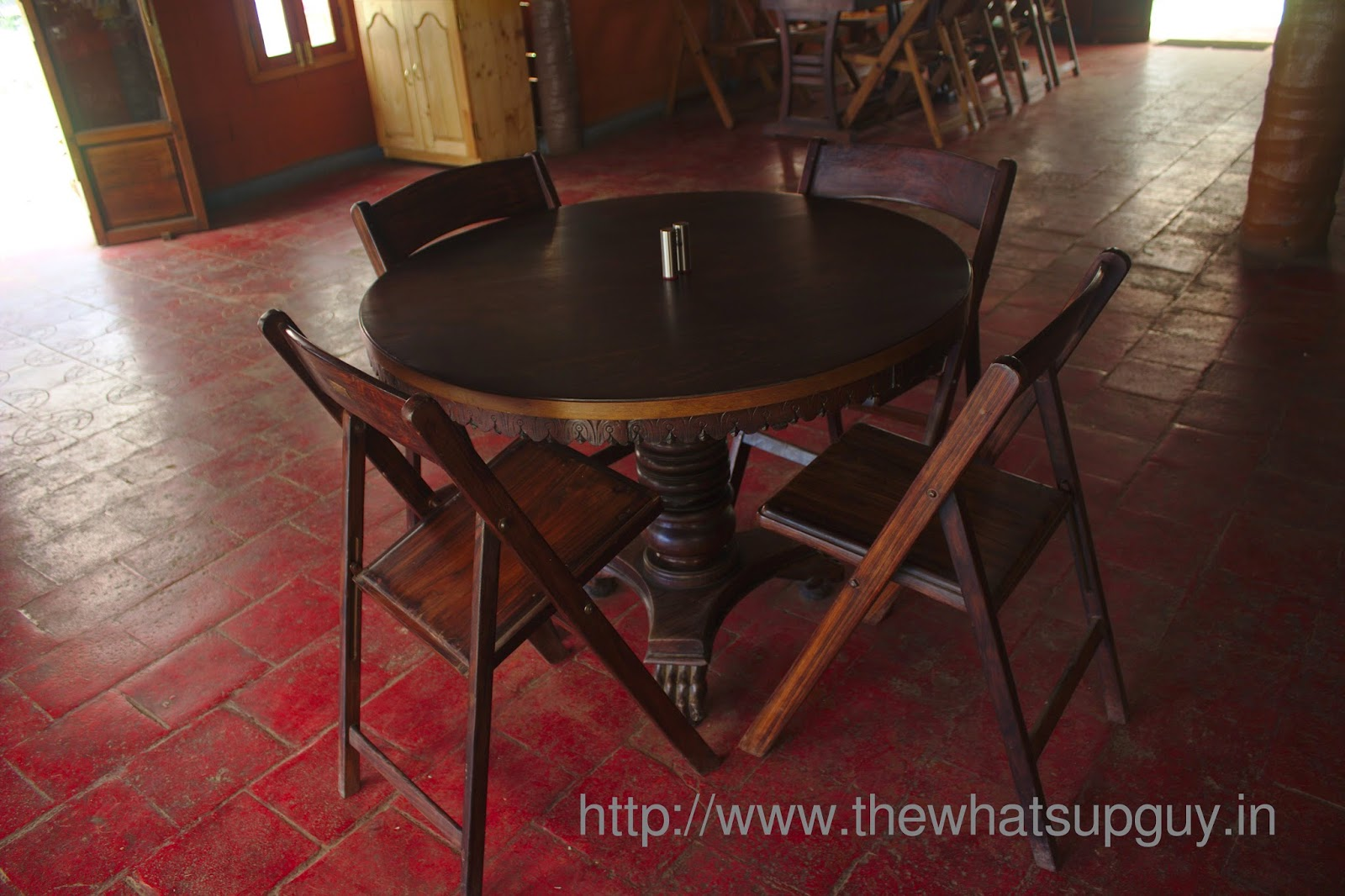 Tables At Tredis Tea Room