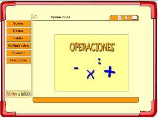 Sumas, Restas, Multiplicaciones y divisiones interactivas