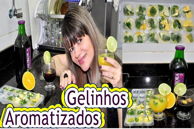 Blog Roxachic Como Fazer Gelo Aromatizado e Deixar a Bebida Refrescante e Saudável | Sucos, Águas...