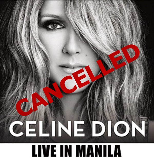 Celine Dion's concert in Manila gets cancelled