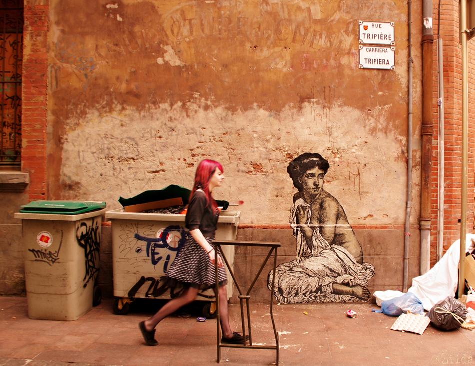 Zilda, street art, Toulouse, Fragiles Fabulae