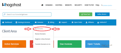 manage domains whogohost